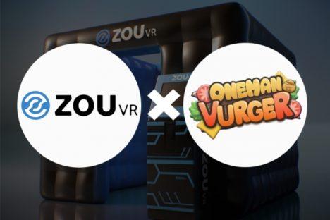 ダズル、移動式VR筐体「ZOU VR Package」にVRゲーム「ワンマンバーガー」を提供