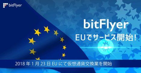ビットコイン取引所のbitFlyer、EUにてサービス開始
