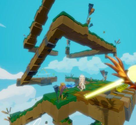 DMM、お姫様を塔の頂上に導くVRパズルゲーム「Light Tracer」を配信開始
