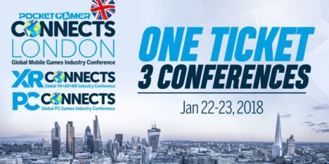 今回はモバイルゲーム&XR&PCゲーム 1/22-23に英ロンドンにてゲームカンファレンス「PocketGamer Connects London 2018」開催