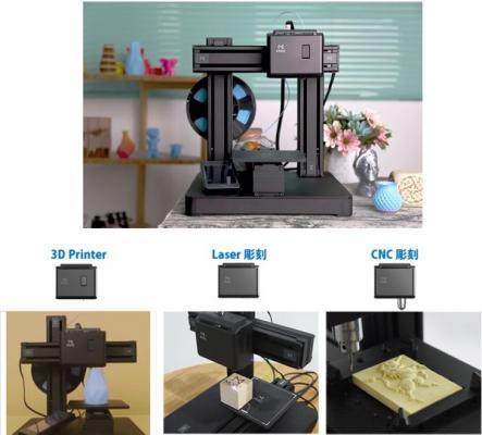 TechShare、3Dプリント・レーザー彫刻・CNC彫刻が1台でできるコンパクトプライベート工房「Mooz」のクラウドファンディングプロジェクトを開始