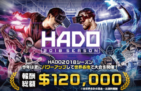 ARを用いた新感覚スポーツ「HADO」、2018年シーズンが開幕