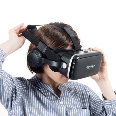 サンワサプライ、VR映像や3D映像をサウンドとともに楽しめるヘッドマウントディスプレイを発売