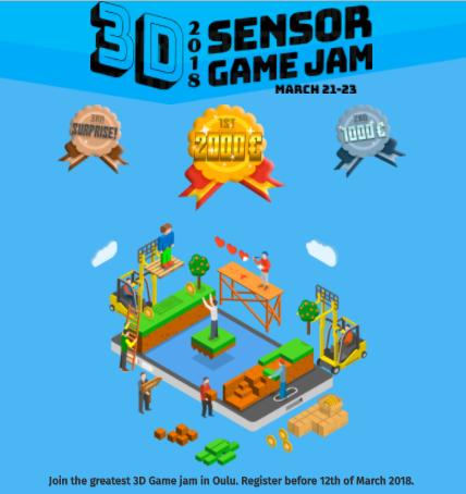 フィンランド・オウルにて3Dセンサーを使用したゲームジャム「Oulu 3D Sensor Game Jam 2018」開催