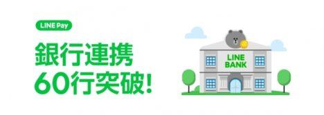LINE Pay、山形銀行・千葉興業銀行と連携し連携銀行数60行を突破