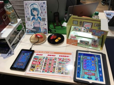 【TOKYO SANDBOX 2018レポート】高速で寿司を回せ!次々訪れるお客さんに寿司を食べさせまくるハイスピードパズル「Peko Peko Sushi」