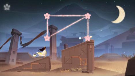 【やってみた】花を繋いで少女を導くiOS向け美麗一筆書きパズルゲーム「月見花 -Lunar Flowers-」