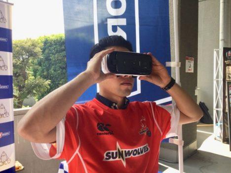 J SPORTSとジャパンエスアール、4/14のヒト・コミュニケーションズ サンウルブズ試合会場にラグビーをリアルに体験できるVRブースを設置