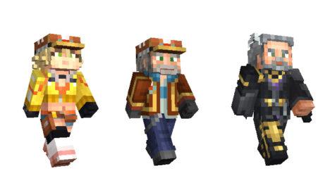 Minecraftに「ファイナルファンタジーXV」のキャラスキンパックが登場