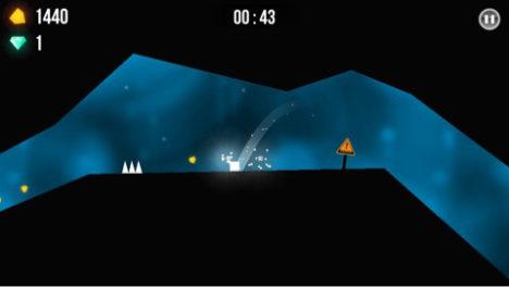 【やってみた】シンプルだけど難しい!跳ねたり滑ったりするキューブを操作するカジュアルアクションゲーム「UP A CAVE」