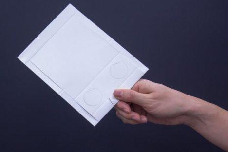 WHITEと大日本印刷、ダイレクトメールとして送れる紙製スマホVRゴーグル「Milbox POST」を発表