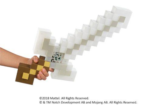 マテル、音と光でMinecraftの世界を表現する玩具「マインクラフト ライト&サウンド・アドベンチャーソード」を5月下旬に発売