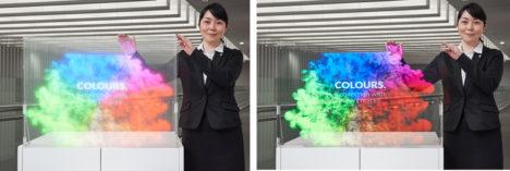 大日本印刷、明るい場所でも鮮やかな映像を表示できる透明スクリーンを開発