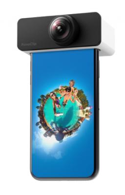 ハコスコ、スマホ用クリップ型360°レンズ「ハコスコ PanoClip」を発売
