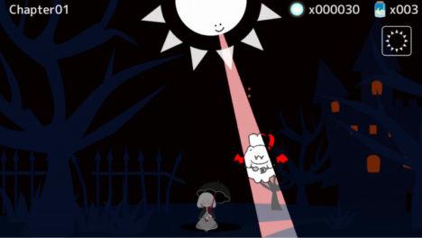 【やってみた】太陽光が苦手な少女の夜歩きを見守る切ないスマホ向けディフェンスゲーム「テラセネ それでも君を照らしたい」