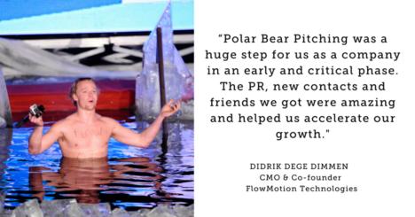 凍った海に入りながらサービスを紹介する世界一過酷なピッチイベント「Polar Bear Pitching」が来年3月にフィンランド・オウルで開催