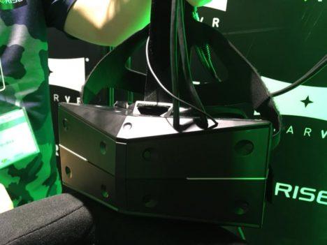 【TGS2018レポート】視野角210°のVR HMDと傾斜角度25°で味わう恐怖---ビーライズ&LumbusのVRライドマシン