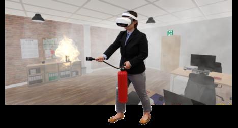 MXモバイリング、一体型VR HMDを用いた消火訓練システム「VR消火訓練シミュレータNeo」を販売開始