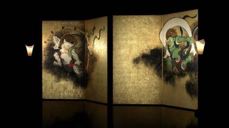 東京国立博物館と凸版印刷、尾形光琳筆「風神雷神図屛風」をVR上演