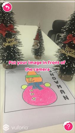 One Technology Japan、クリスマスツリーのぬりえがARで浮かび上がるアプリ「AR Xmas Coloring」をリリース