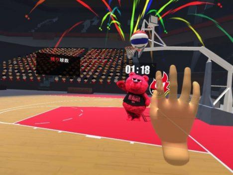 アルバルク東京、VRでバスケットボールを体験できるイベントをアリーナ立川立飛にて開催
