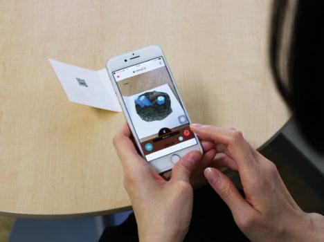 ARで誕生石とメッセージが現れる「ARバースデーカード」が2019年1月に発売