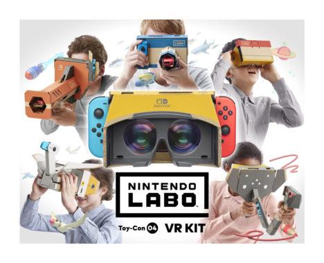 任天堂、4/12よりSwitchをVR HMDにできる「Nintendo Labo: VR Kit」を発売