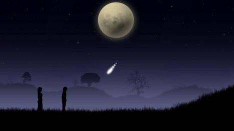 夜道を歩く癒しの散歩シミュレーションゲーム「Blue Moon」のSwitch版が5/23にリリース