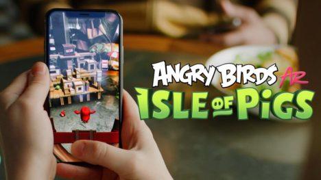 Rovio、「アングリーバード」シリーズのVRゲーム「Angry Birds VR: Isle of Pigs」のスマホAR版をリリース