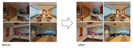 リコー、独自の画像処理技術とAI技術を活用した「AI画像補正」を360°VRコンテンツ制作サービス「THETA 360.biz」で提供開始