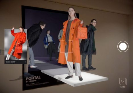 店舗でのARランウェイ体験ができる「PORTAL」がGINZA SIXと東京ミッドタウンにて提供開始
