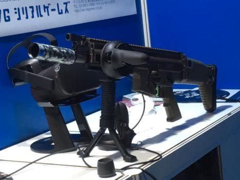 【TGS2019レポート】重さと反動があるのが楽しい!エアガンをそのまま使用したVR射撃「VR shooting trainer 2」