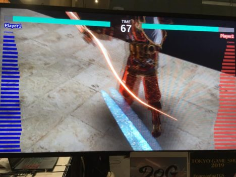 【TGS2019レポート】プレイヤー同士のVRリアルタイム対戦を実現!よむネコの新プロジェクト「デュエル・オブ・ガルガンチュア」が最速試遊出展