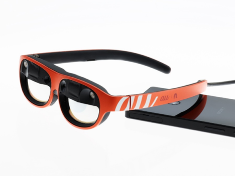 スマートMRグラス「NrealLight」がCEATECのKDDIブースに出展 auオリジナルデザインのスマートMRグラスを披露