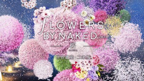 ネイキッド、体感型イマーシブアート展「FLOWERS BY NAKED 2020 -桜- 世界遺産・二条城」のオンライン販売を開始